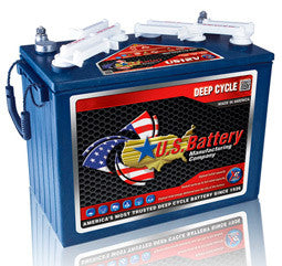 US Battery 12 Volt 155 Amp Hour Conventional Wet Cell Golf Cart Battery Part No US12VXC2