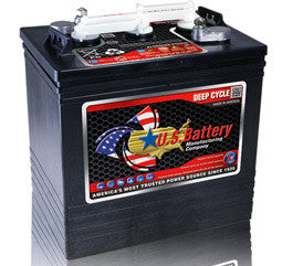 US Battery 6 Volt 216 Amp Hour Conventional Wet Cell Golf Cart Battery Part No US2000XC2