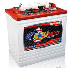 US Battery 6 Volt 232 Amp Hour Conventional Wet Cell Golf Cart Battery Part No US2200XC2