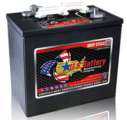 US Battery 6 Volt 255 Amp Hour Conventional Wet Cell Golf Cart Battery Part No US250-XC