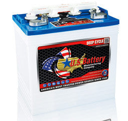 US Battery 8 Volt 183 Amp Hour Conventional Wet Cell Golf Cart Battery Part No US8VGCHC