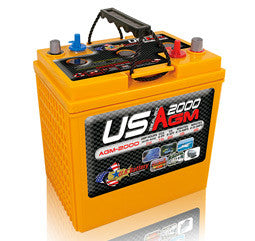 US Battery 6 Volt 213 Amp Hour AGM Golf Cart Battery Part No USAGM2000