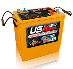 US Battery 6 Volt 260 Amp Hour AGM Golf Cart Battery Part No USAGM250