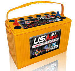 US Battery 12 Volt 100 Amp Hour AGM Boat & RV Battery Part No USAGM31
