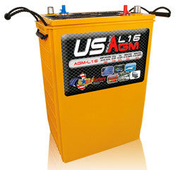 US Battery 6 Volt 390 Amp Hour AGM Renewable & Solar Battery Part No USAGML16