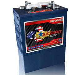US Battery 6 Volt 420 Amp Hour Conventional Wet Cell Renewable & Solar Battery Part No USL16HC-XC
