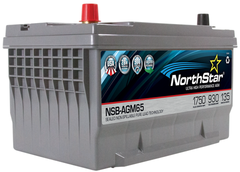 Northstar 12 Volt 930 CCA AGM Battery Part No NSB-AGM65 BCI Group 65