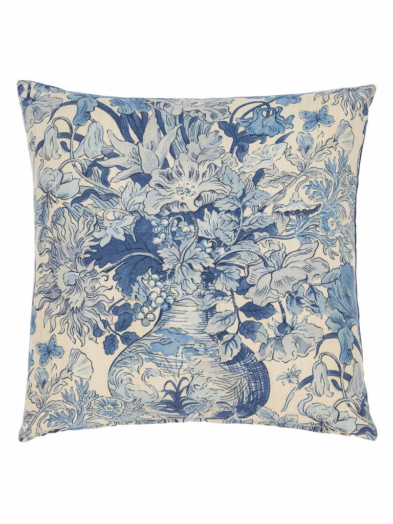 Blue Floral Cushion (various styles) - Hamptons House - 1