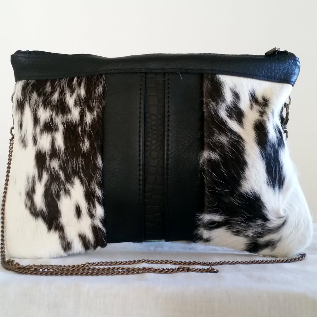 PABLO Black and White Cross body purse/clutch bag