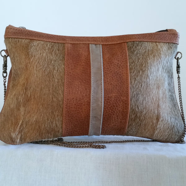 PABLO Brown Cross Body Purse/Clutch Bag