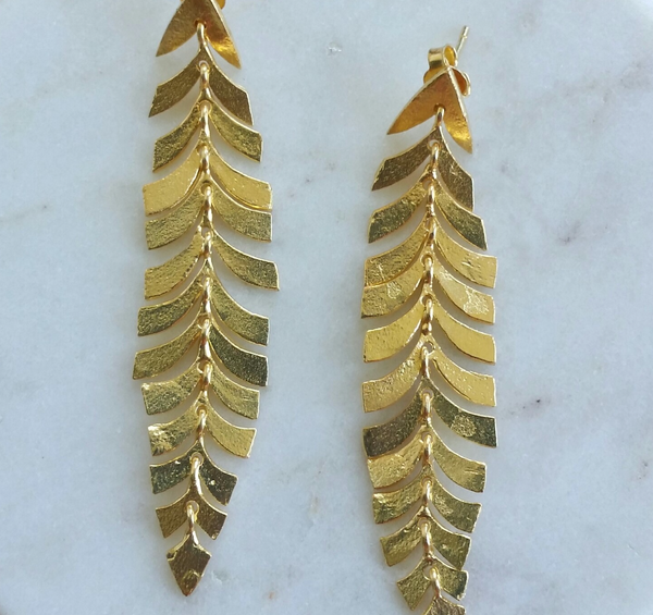 NZ Fern Earings