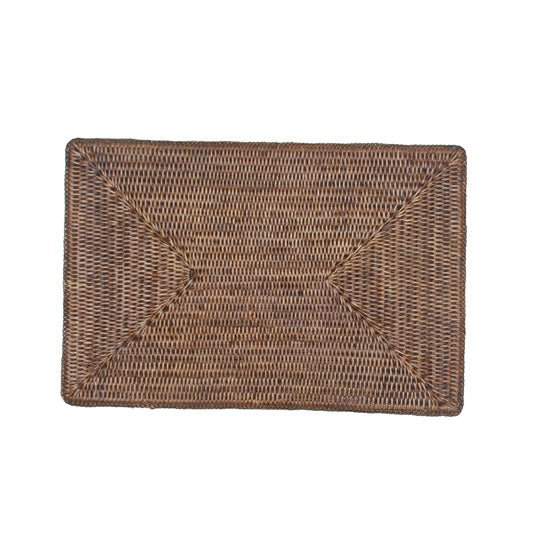 Rectangle Rattan Brown Placemat