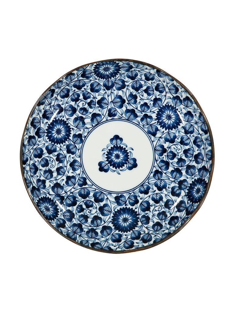 Japanese Blue u0026 White Patterned Plates (various styles) - H&tons House - 3  sc 1 st  H&tons House & Japanese Blue u0026 White Patterned Dinner Plate - Tableware or ...