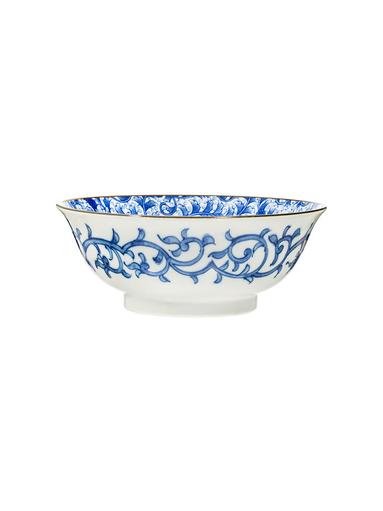 Japanese Patterned Large Noodle Bowl (various styles) - Hamptons House - 1