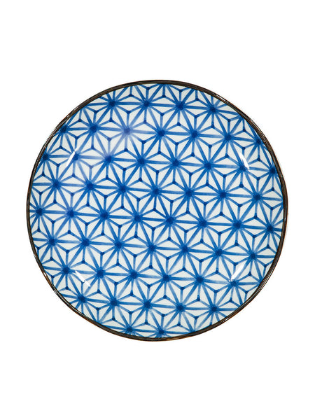 Japanese Blue & White Patterned Plates (various styles) - Hamptons House - 1
