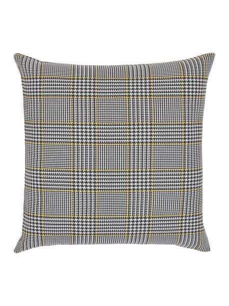 Black & Gold Houndstooth Cushion - Hamptons House - 1