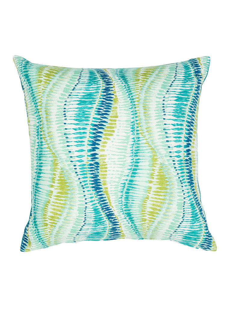 Blue & Green Wave Pattern Cushion (Various Sizes)