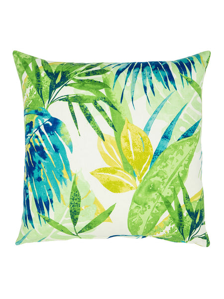 Blue & Green Tropical Print Cushion (Various Sizes)