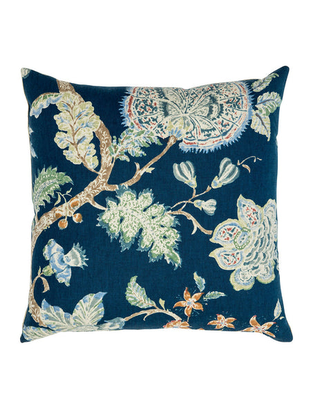 Navy Floral Cushion (Various Sizes)
