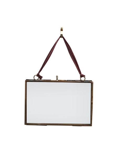 Hanging Metal Frame in Antique Brass (various styles) - Hamptons House - 1