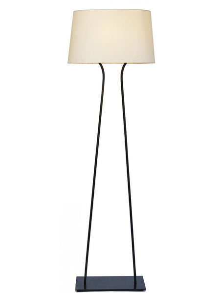 Curved Antique Bronze Floor Lamp - Hamptons House