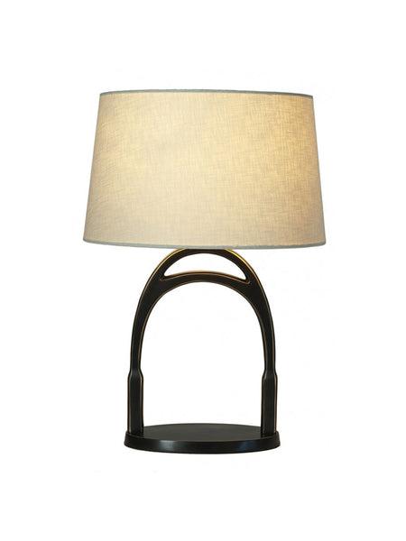 Horse Stirrup Table Lamp - Hamptons House