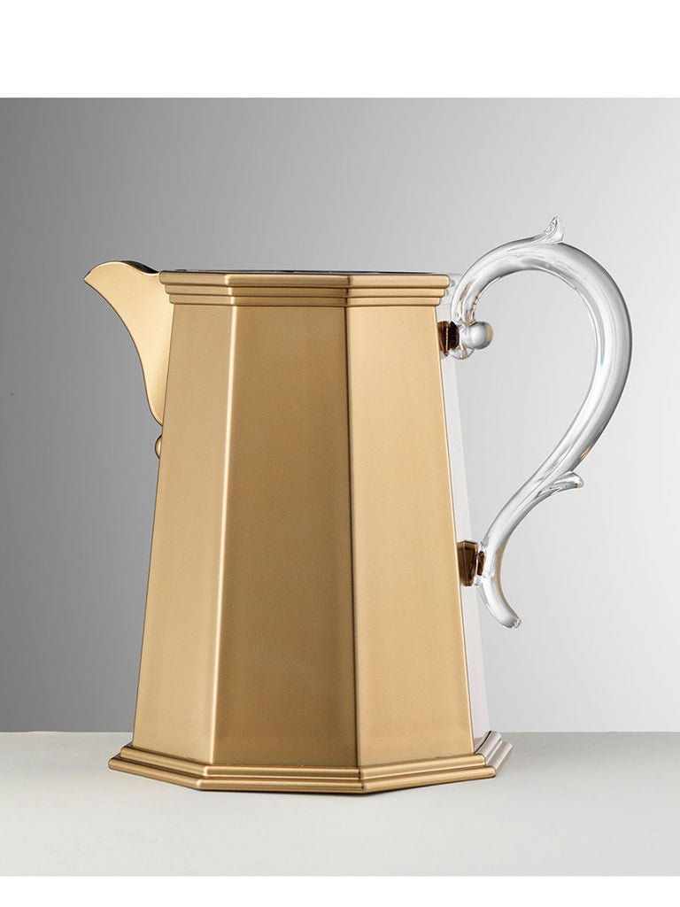 Synthetic Crystal 'Ottaviana' Gold Pitcher - Hamptons House