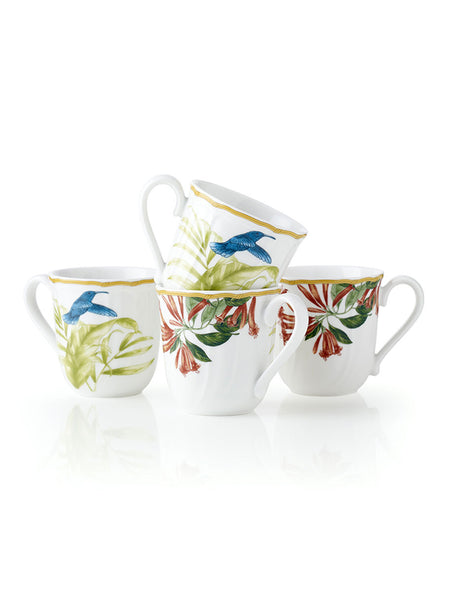 Hummingbird Meadow Mugs (Set of 4) - Hamptons House