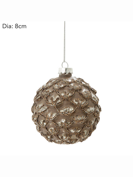 Glass Pinecone Christmas Tree Bauble
