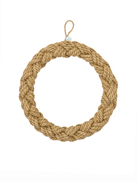 Woven Rope Christmas Wreath