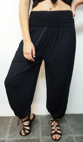 #1544 - Black Lounge About Pants - Available in Sizes 8/16, 16/24