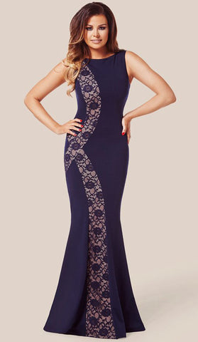 #80054 - Long Navy Dress - Available in Size 8/10, 12/14, 16/18