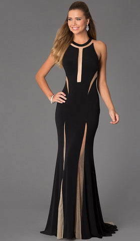 #70202 - Long Flowing Black Mermaid Dress - Available in Sizes 14/16, 16/18