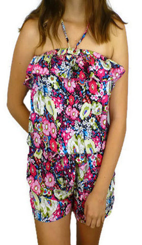 #CD04 - Pink Floral Jumpsuit - Available in Sizes 10/14