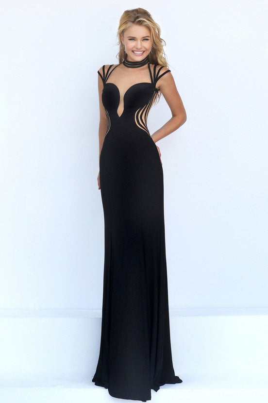 24773 Black and Nude evening gown 8/10 – Sophisticlad