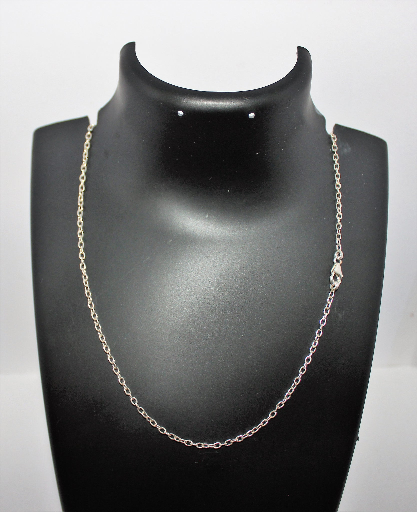 thin necklace img flat products chain inches jewellery silver series