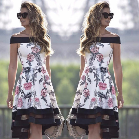 27176 Black and Pink Floral dress