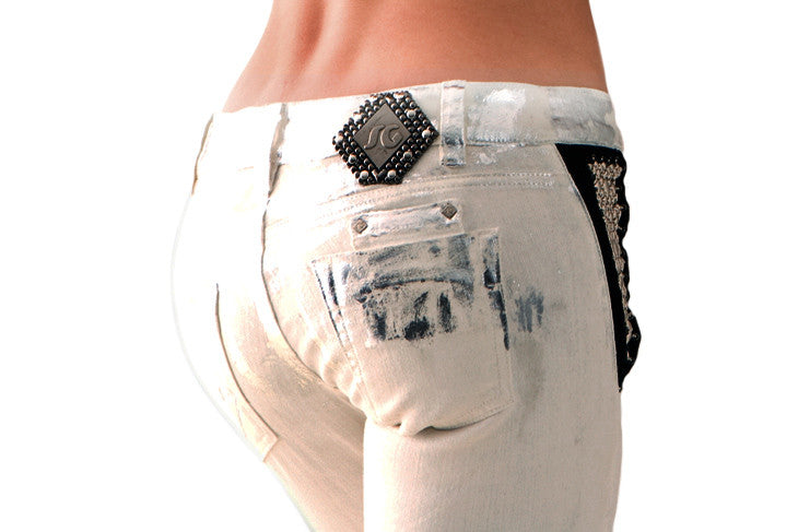 SG Liquid Metal 105 White Denim Jean by Sergio Gutierrez