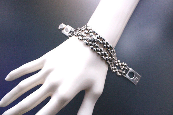 SG Liquid Metal TB41 AS – Antique Silver Finish – Bracelet by Sergio Gutierrez