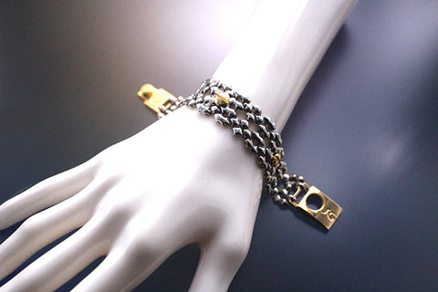 SG Liquid Metal TB41 – Antique silver and Gold Finish – Bracelet by Sergio Gutierrez