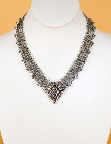 SG Liquid Metal Chainmail CMNeck1 Z – AS (antique silver finish) Necklace
