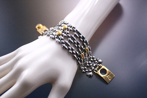 TB42 – Antique Silver and Gold Finish – Bracelet