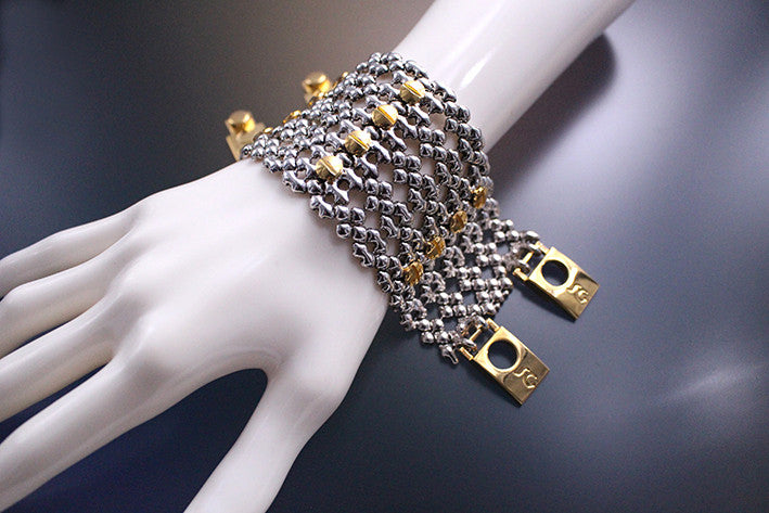 TB43 – Antique Silver and Gold Finish – Bracelet