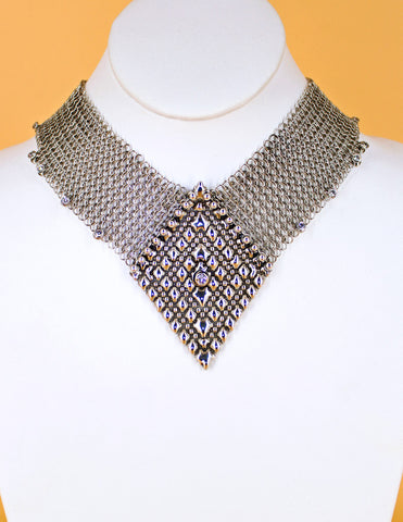 SG Liquid Metal Chainmail CMNeck2 Z – AS (antique silver finish) Necklace