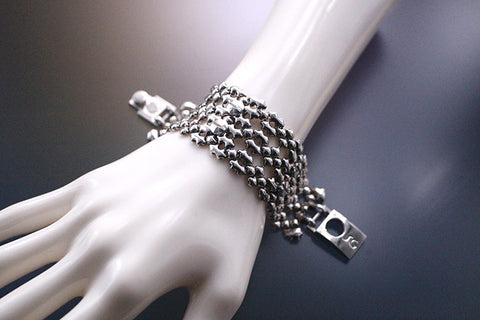SG Liquid Metal TB42 AS – Antique Silver Finish – Bracelet by Sergio Gutierrez