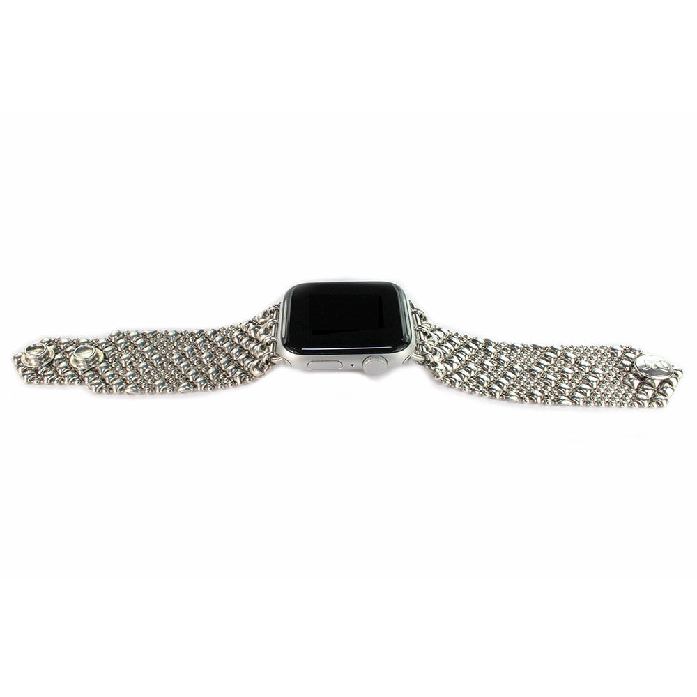 SG Liquid Metal APPLE-2-AS (Antique Silver Finish) Apple Watch Band by Sergio Gutierrez