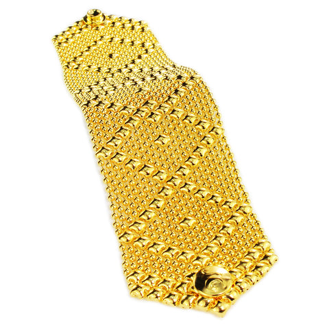SG Liquid Metal B10 – G24K Gold 24k Finish Bracelet by Sergio Gutierrez