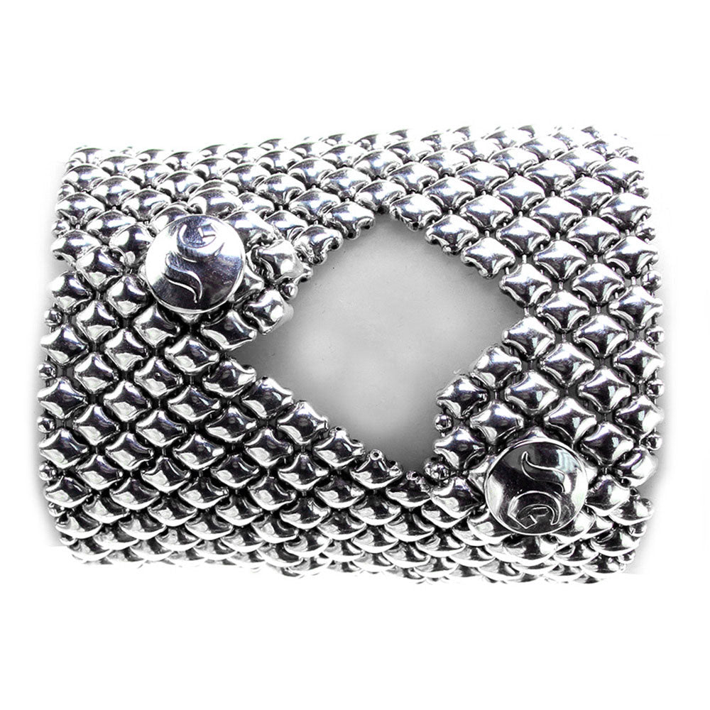 SG Liquid Metal B102-AS Antique Silver Bracelet by Sergio Gutierrez