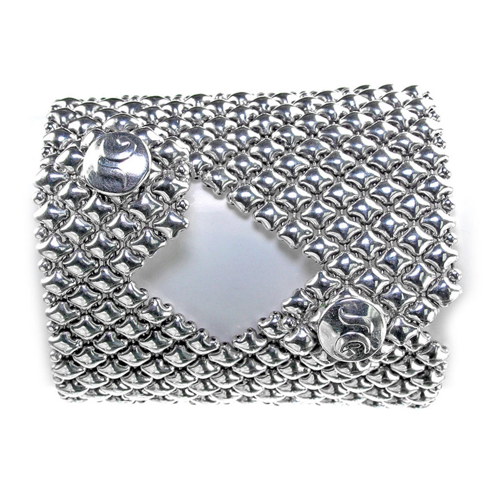 SG Liquid Metal B103-AS Antique Silver Bracelet by Sergio Gutierrez