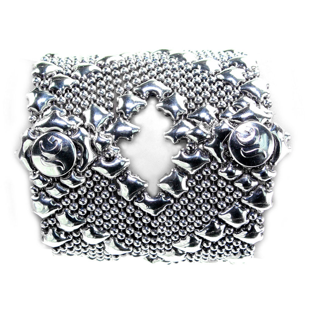 SG Liquid Metal B105-AS Antique Silver Bracelet by Sergio Gutierrez